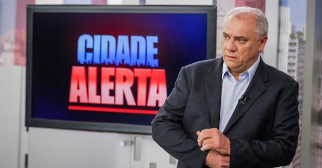 Audiência do Cidade Alerta com Luiz Bacci para baixa