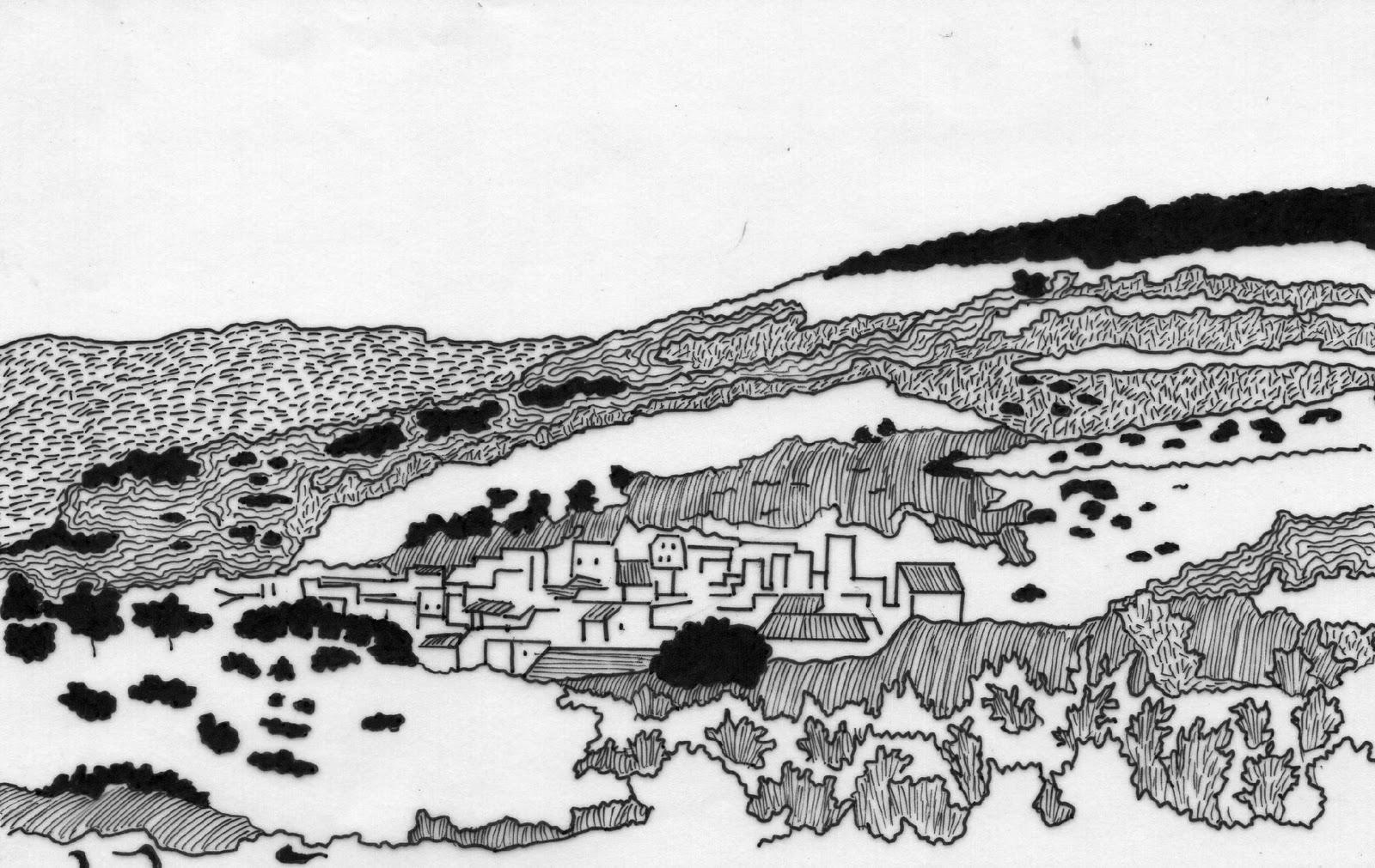 Urban sketchers italy paesaggio di montresta or for Paesaggio invernale disegno