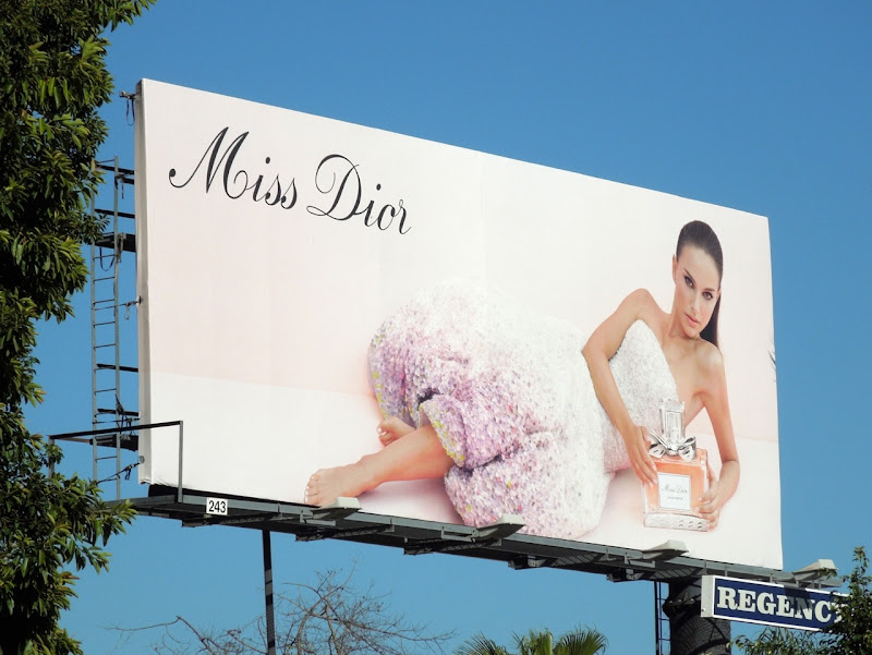 Natalie Portman Miss Dior fragrance billboard