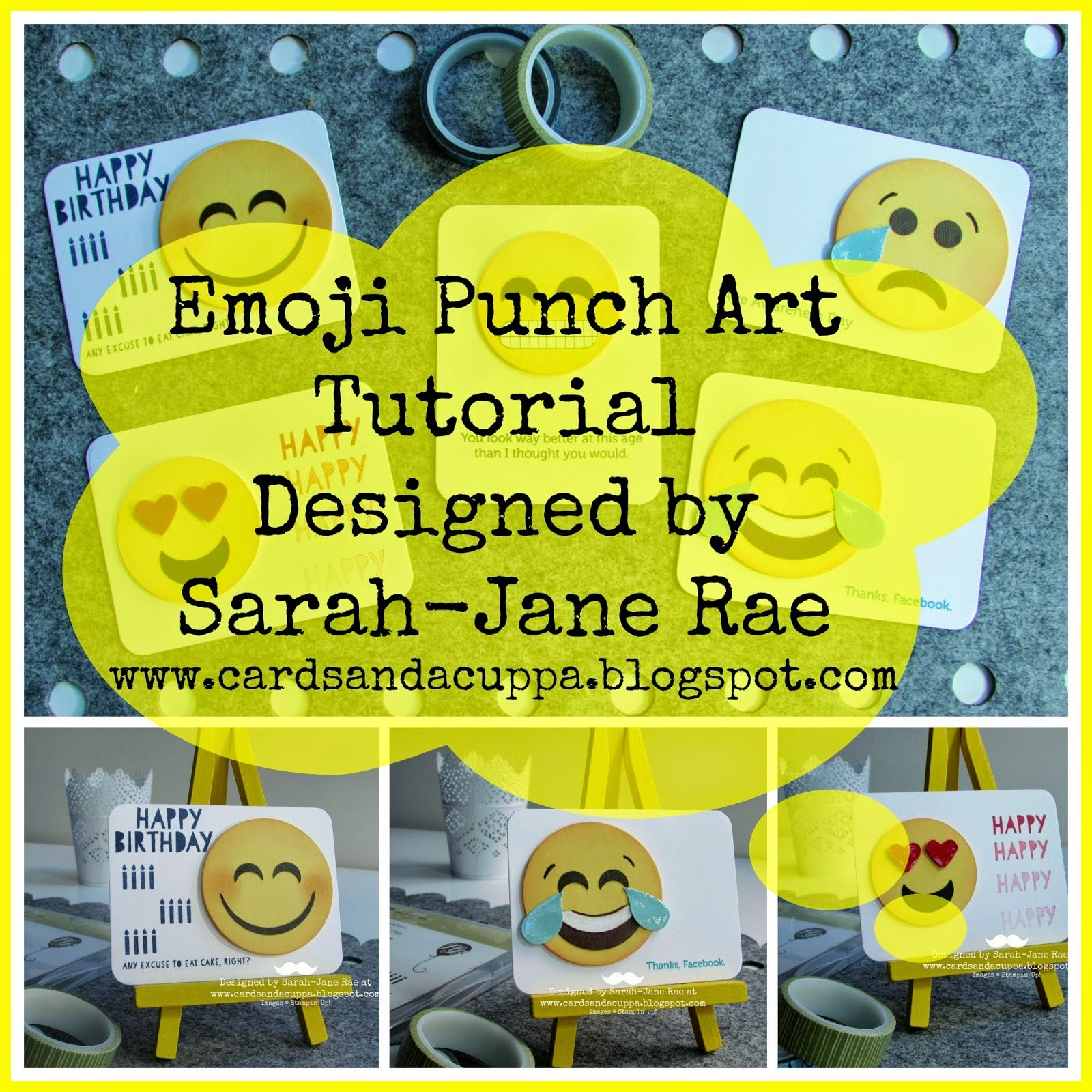 Make Emoji Punch Art, FREE TUTORIAL