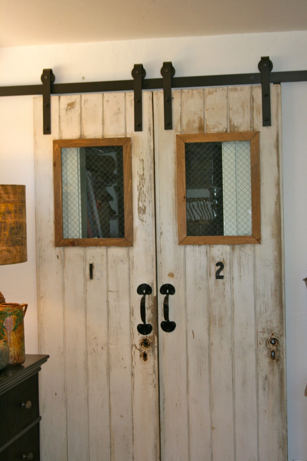 The Polished Pebble The 4 Doors Barn Door Project Finished