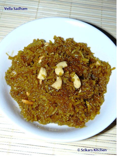 Vella Sadham- Jaggery rice