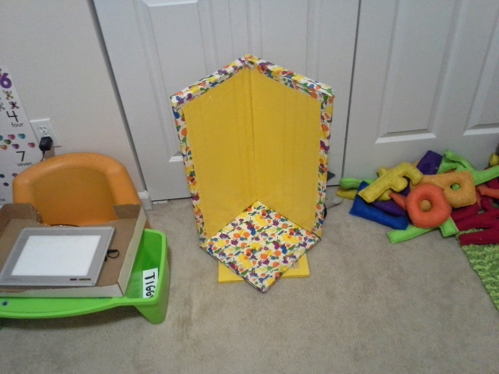 DIY corner chair for special needs therapy
