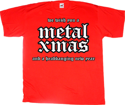 heavy heavy metal rock christmas t-shirt ephemeral-t-shirts