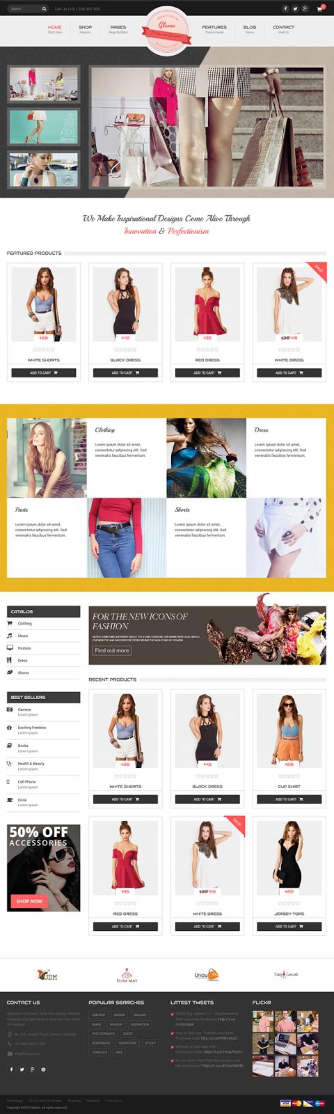 Free Responsive WordPress eCommerce Theme