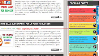 Cara Membuat Popular Post Warna-warni Di Blog