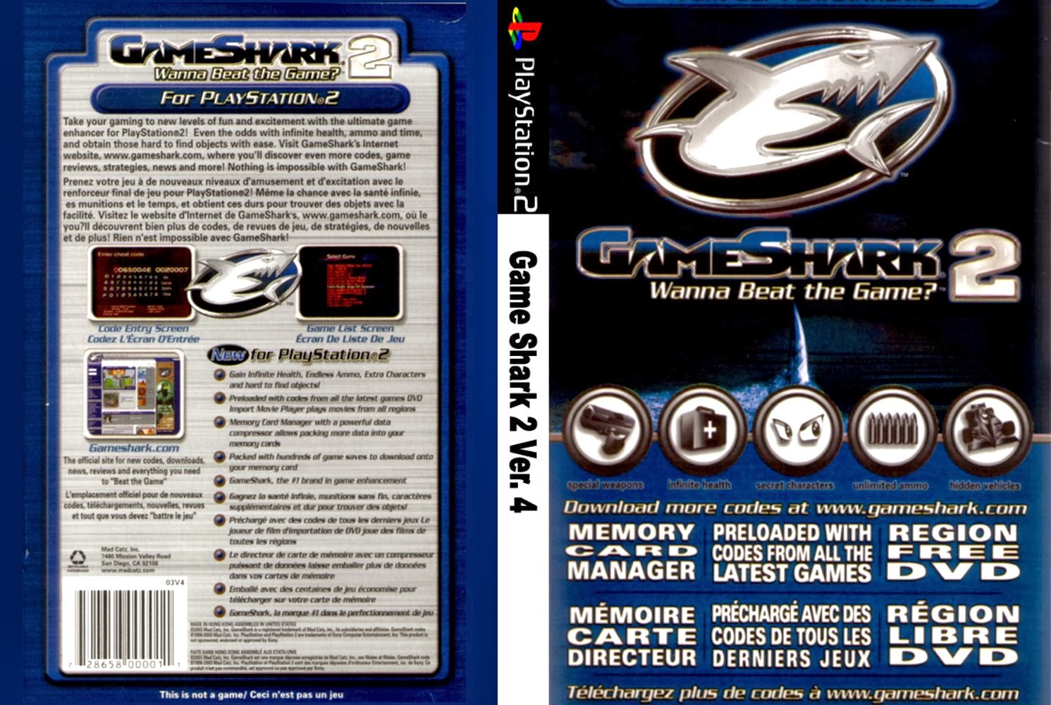 game shark play station 2: