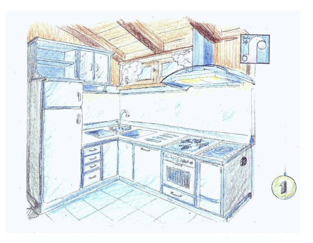 Arredatore on line i disegni in prospettiva - Disegni di cucine ...