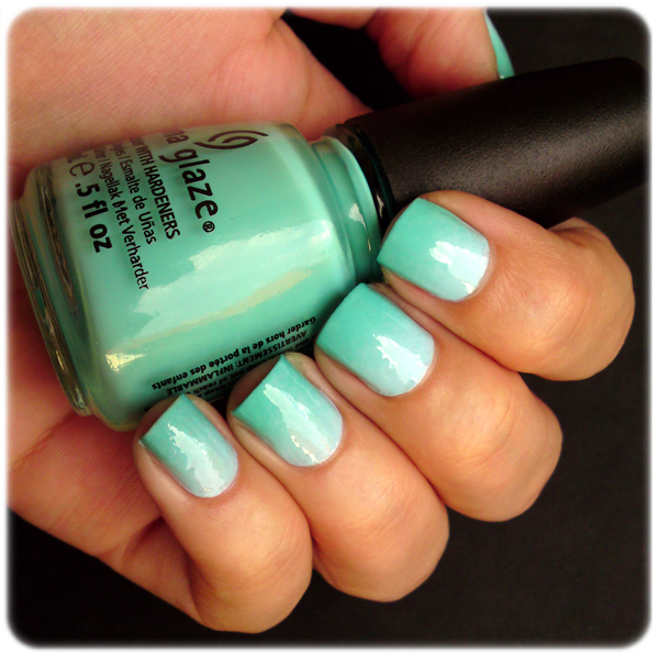 ivana thinks pink  blue  u0026 turquoise gradient nails