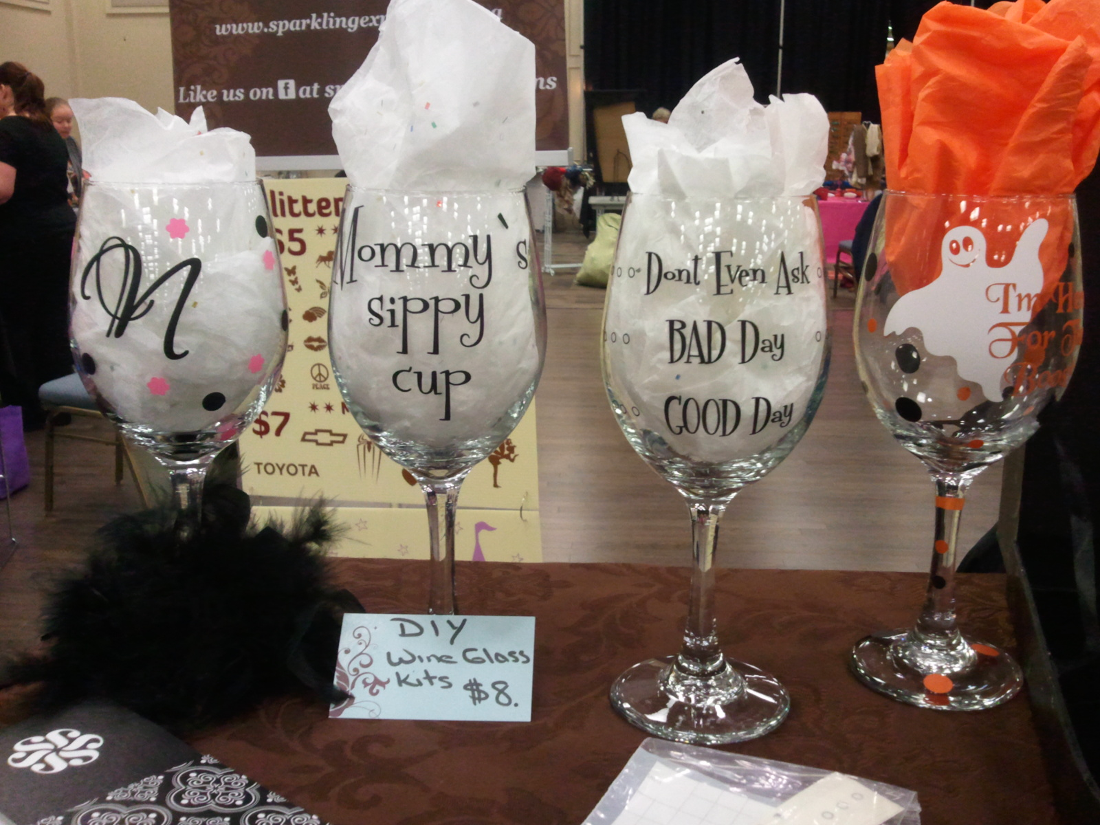 Vinyl DIY Wine Glass Kits