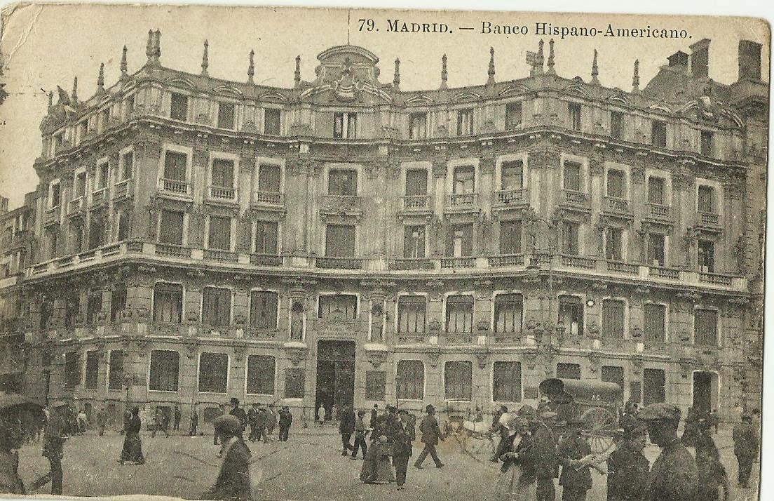 Viajando tranquilamente por espa a madrid banco hispano for Banco santander sucursales barcelona