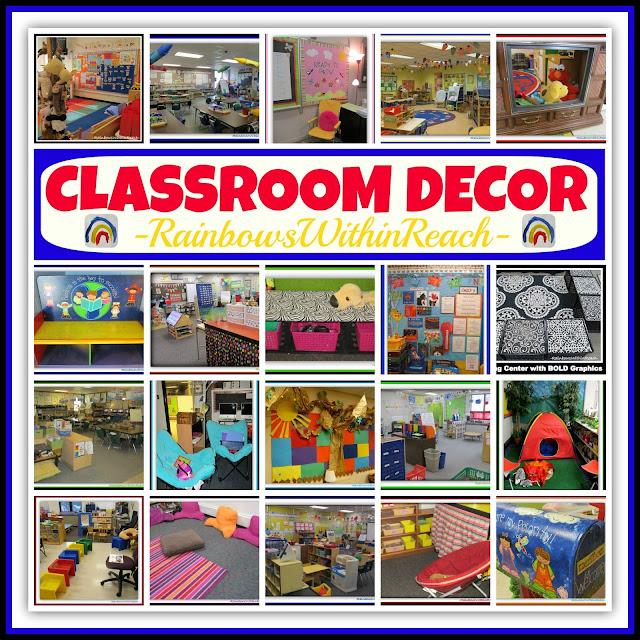 "Classroom Decor: The ""CUTE"" Conversation (RoundUP at RainbowsWithinReach)"