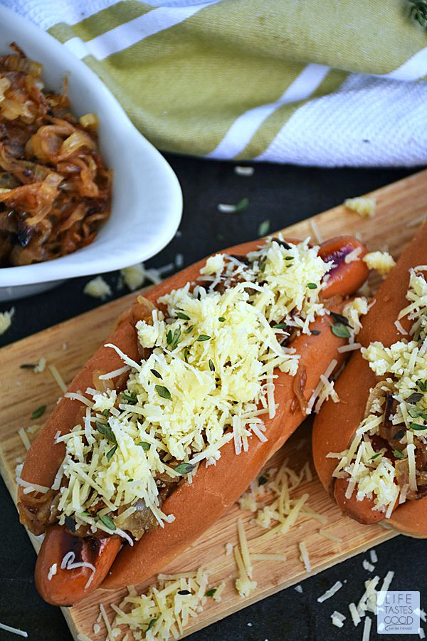 French Onion Hot Dogs | by Life Tastes Good #LTGRecipes
