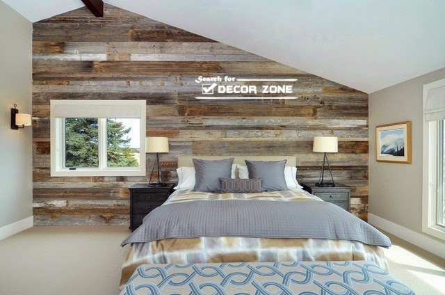 Rustic Bedroom Designs With Wood Wall