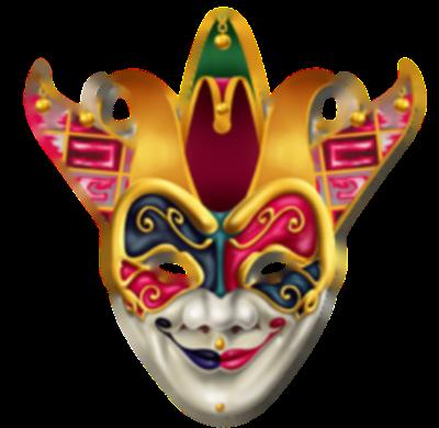 Máscara Carnaval PNG - Arlequim diabólico