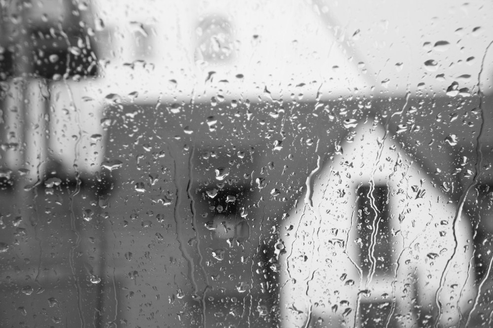 The Rain Storm in Ulm, Germany: Black and White ...