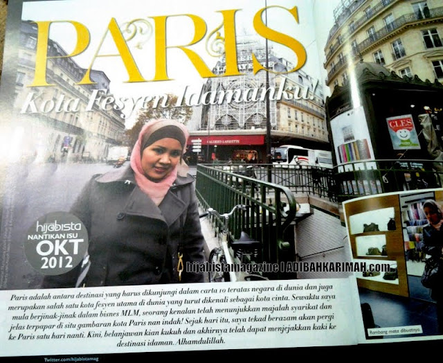 Hanis in Paris dalam hijabista magazine from Premium Beautiful Top Agents
