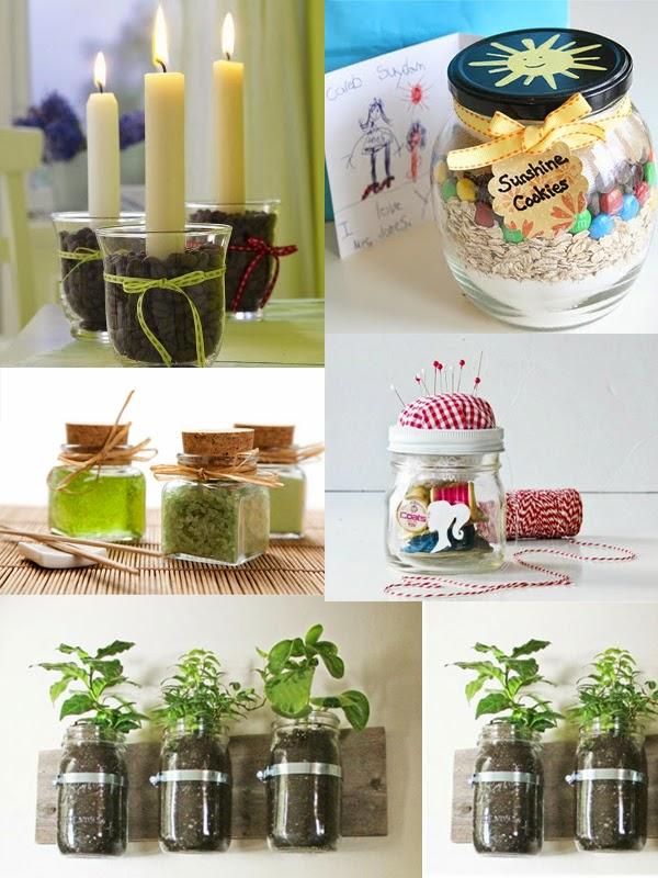 Home shabby chic cristal y vidrio for Reciclar frascos de vidrio de cafe