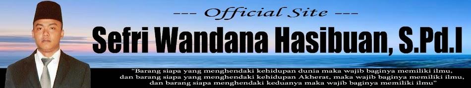 Sefri Wandana Hasibuan, S.Pd.I