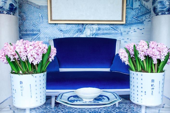красивый интерьер в синем цвете фото