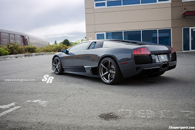 Grigio Telesto Lamborghini Murciélago LP640-4 on PUR Wheels left side rear view