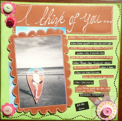 Carmen Wing - Whoopidooings - Mum Remembrance Scrapbook Page