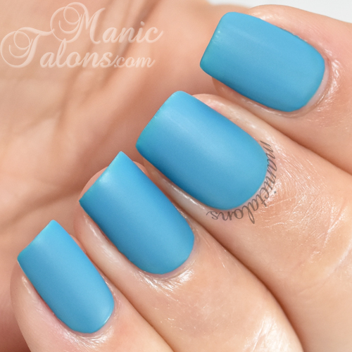 BMC Jardin Bleu Matte Gel Polish Swatch
