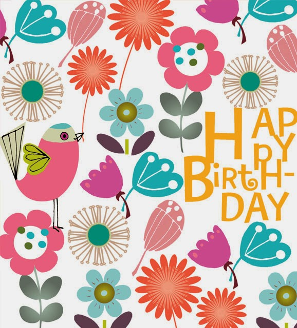 bird flowers bright colourful floral summer new birthday greeting cards designers Liz and Pip Ltd