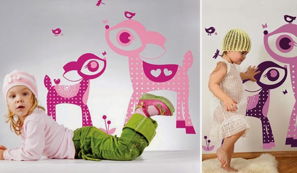 Decoraci n de las paredes del dormitorio infantil for Vinilos dormitorios infantiles