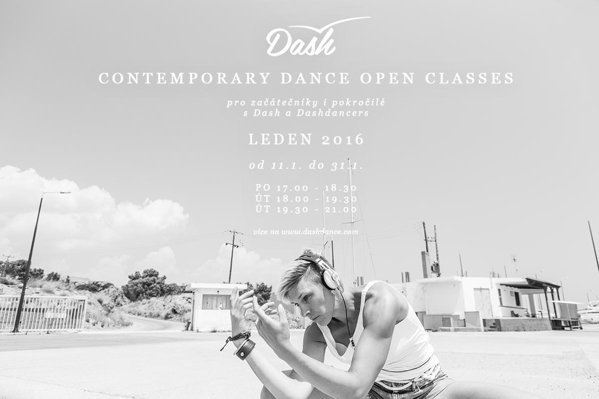 Contemporary dance open classes leden 2016