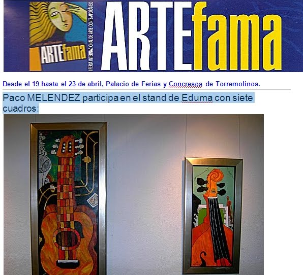 """FERIA DE ARTE - ARTEFAMA 2007 - TORREMOLINO"""