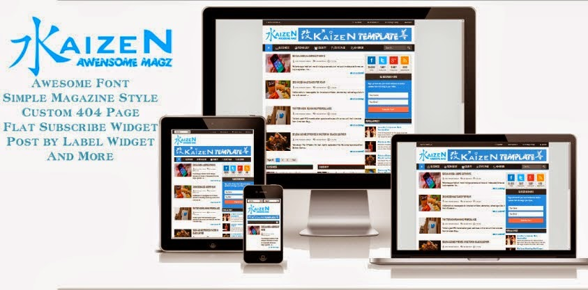 Free Download Kaizen Awensome Magz Blogger Template