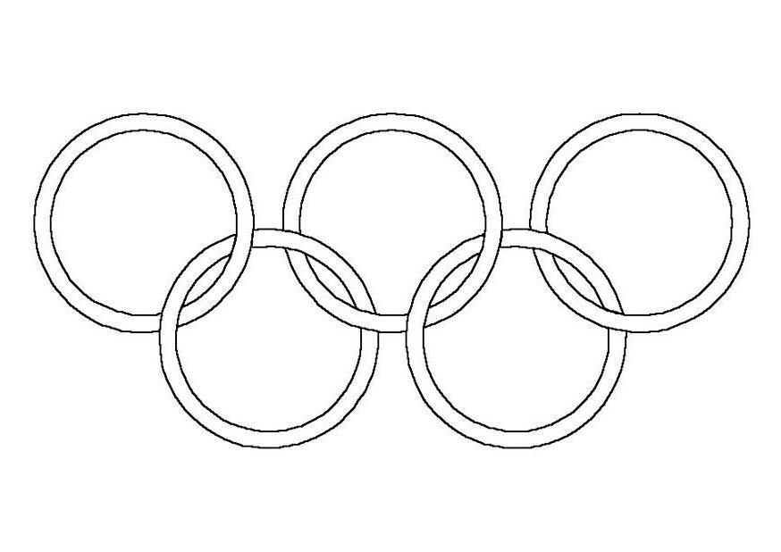 Кольца олимпийские раскраска