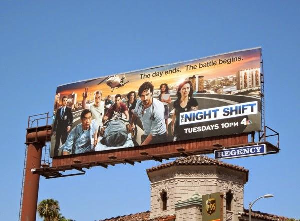 The Night Shift series premiere billboard
