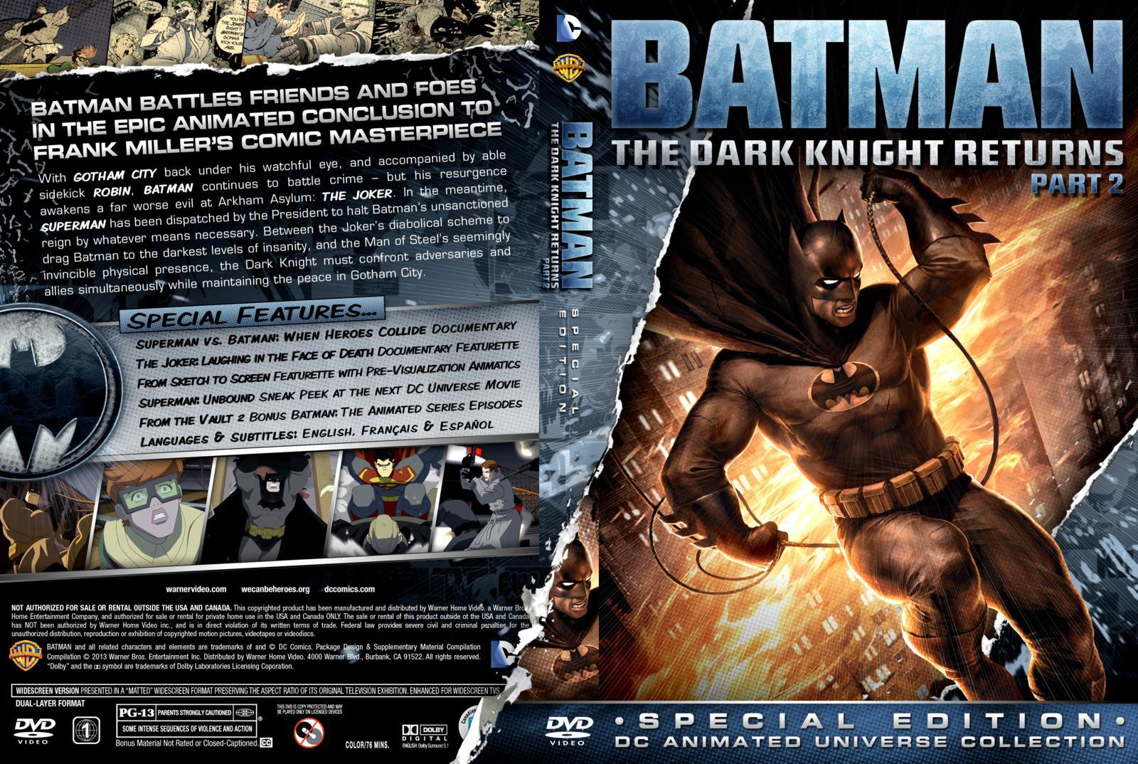 capa dvd batman the dark knight returns part 2 gamecover