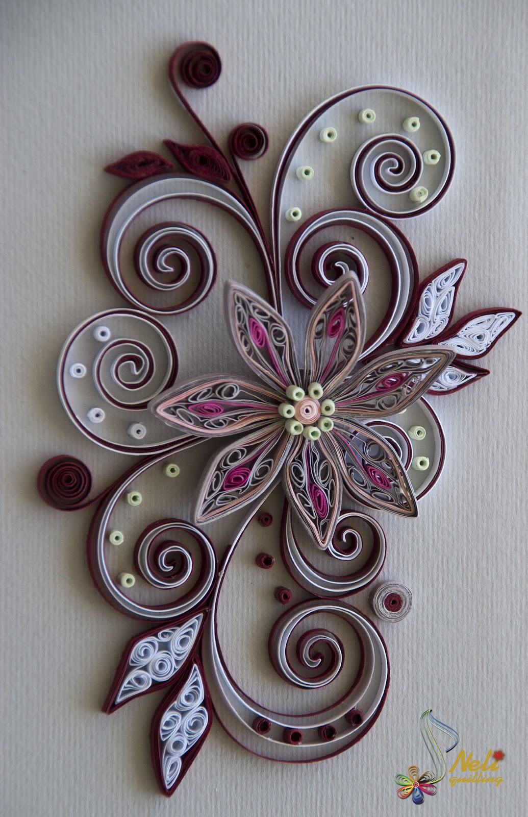 Neli quilling art quilling cards flower for Quilling paper art