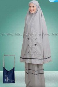 Faira Mukena MS 31 - Abu Muda (Toko Jilbab dan Busana Muslimah Terbaru)