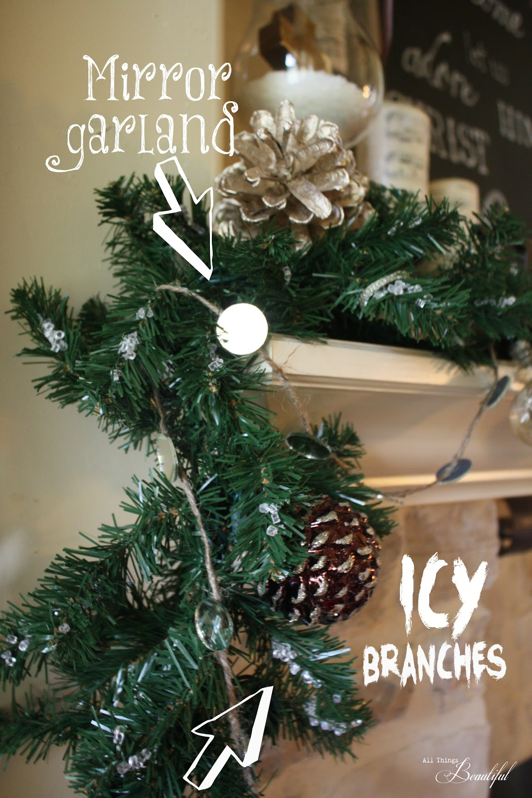 All Things Beautiful: 5 {Christmas Mantle} DIY projects