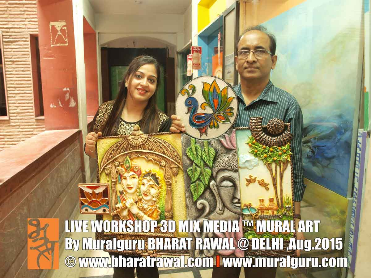 Mural art by muralguru bharat rawal august 2015 for 3d mural art in india