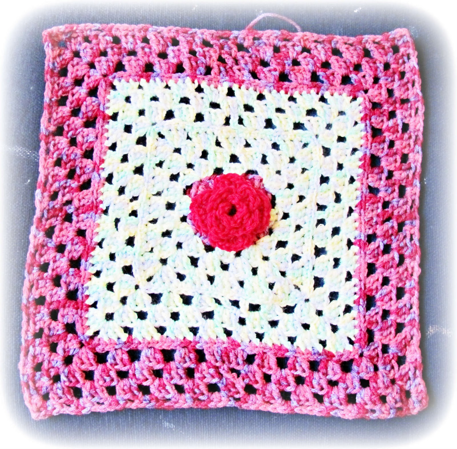 image 12 twelve inch crochet square rose flower nicki trench cute and easy crochet