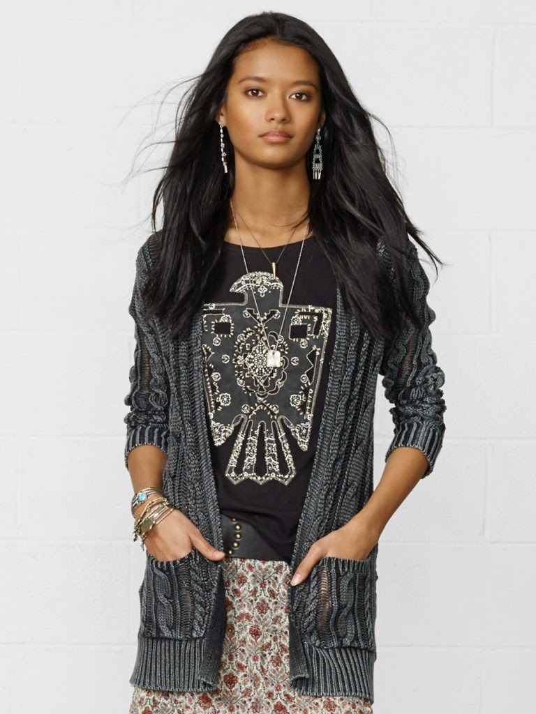 Open-Front Cable-Knit Cardigan