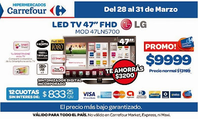 tecno promos argentina promo carrefour tv led lg 47. Black Bedroom Furniture Sets. Home Design Ideas