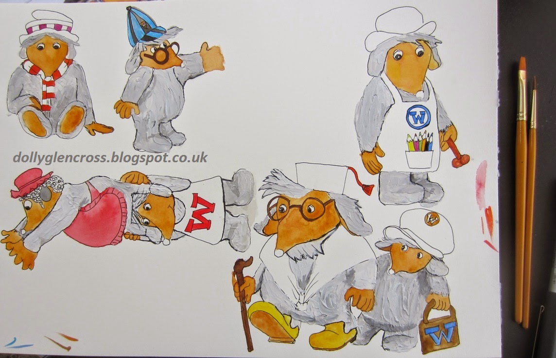 The wombles painting drawing