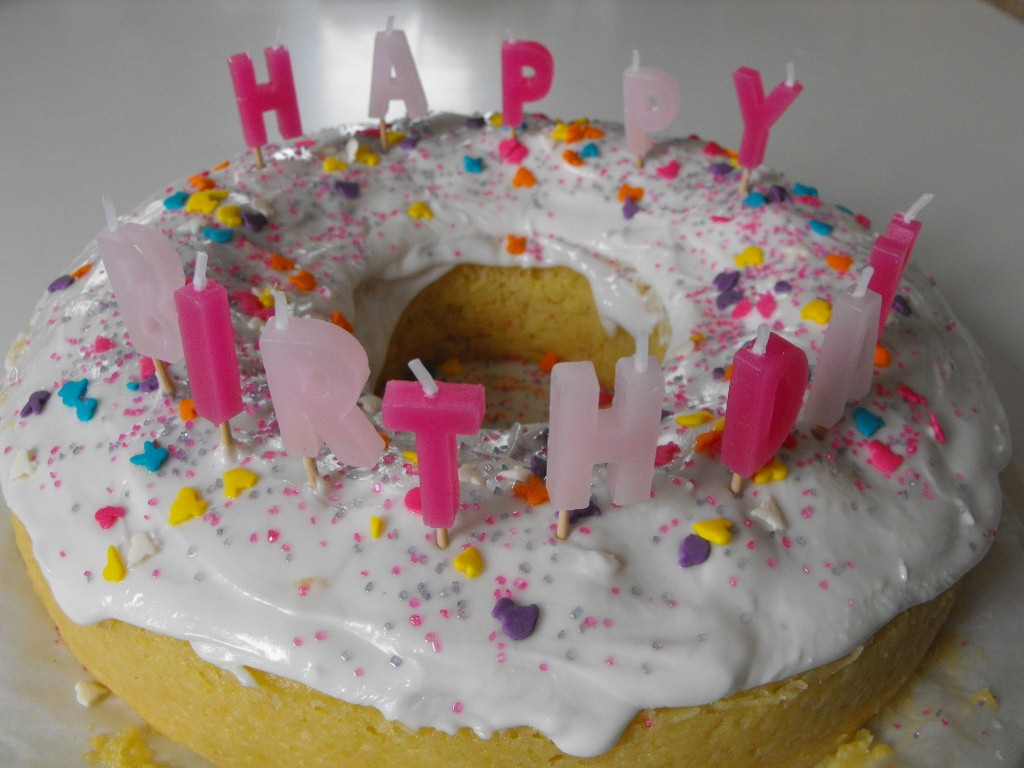 Not Only Did I Get A Giant Doughnut Cake For My Birthday But Gerry Made It From Scratch Isnt Cute Its Just What Wanted