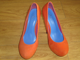 Bebo shoes UK orange color shoes