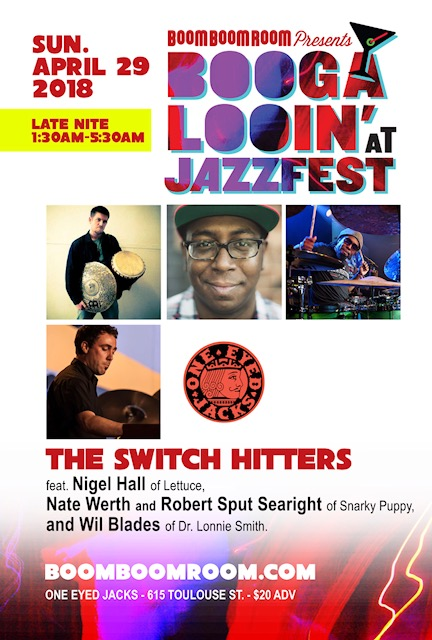 4/29: BBRP : THE SWITCH HITTERS ft. Nigel Hall, Wil Blades, Robert Sput Searight, Nate Werth at OEJ