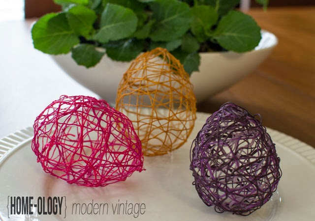 easter string eggs