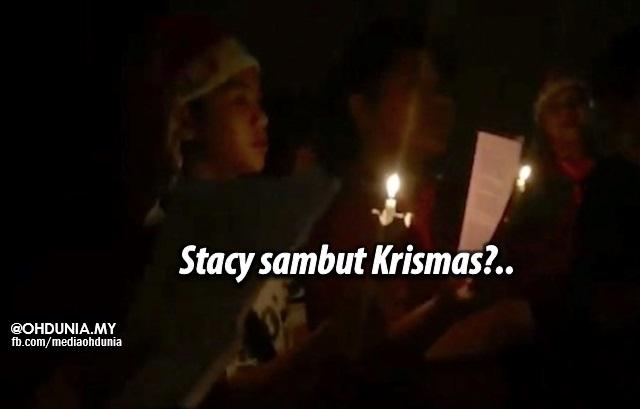 Peminat jatuhkan hukum bila Stacy muat naik video sambut Krismas