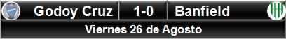 Godoy Cruz 1-0 Banfield