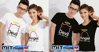 Angel Devil (putih,hitam) , baju baju couple
